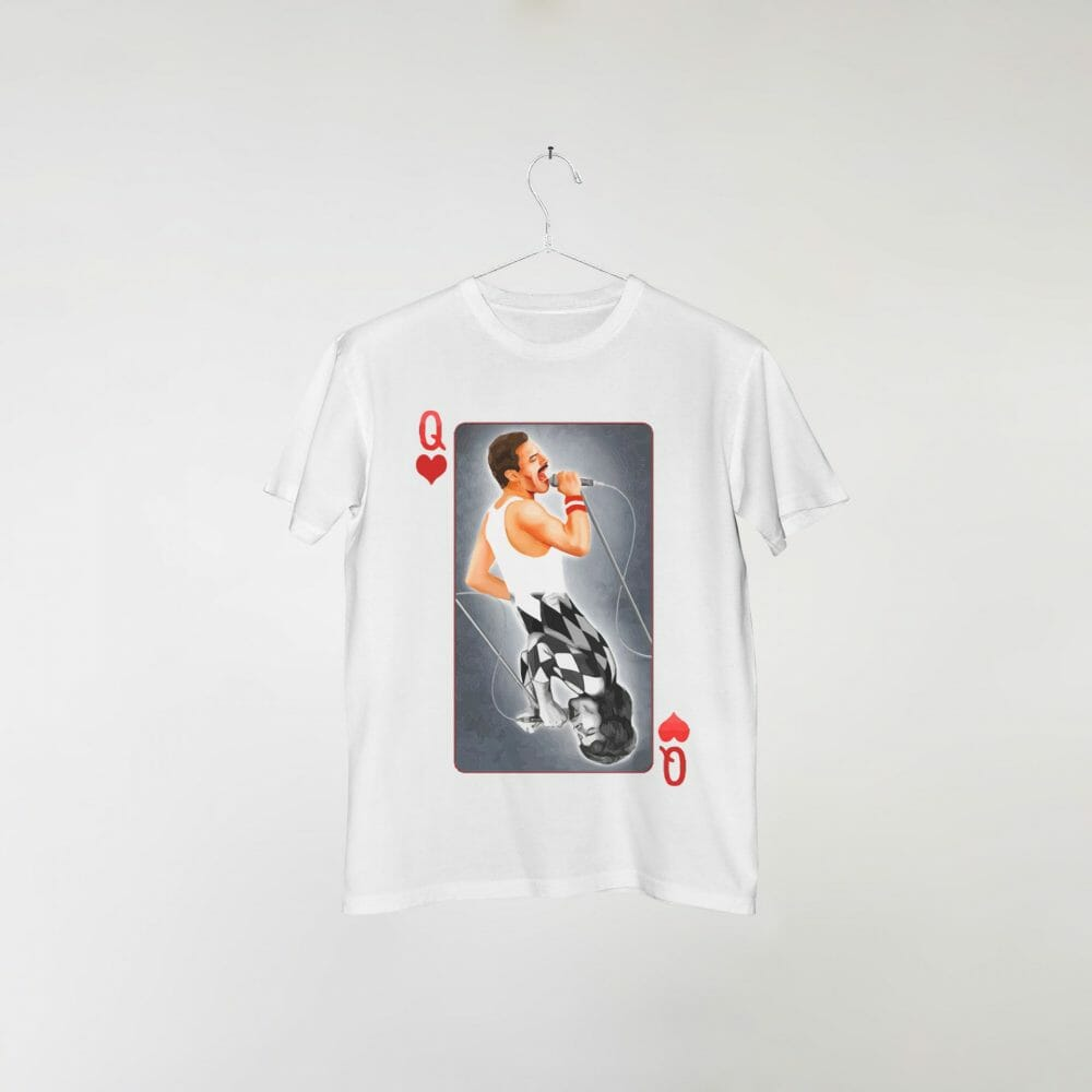 camiseta-branca-queen-deck-card
