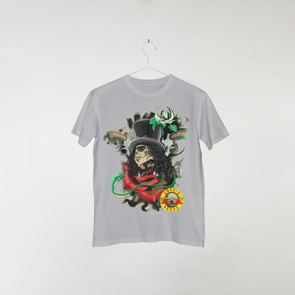 camiseta-cinza-guns-n-roses-slash-skull