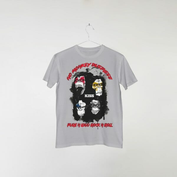 camiseta-cinza-kiss-no-monkey-business
