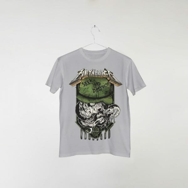 camiseta-cinza-metallica-seek-n-destroy