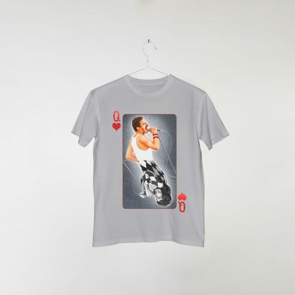 camiseta-cinza-queen-deck-card