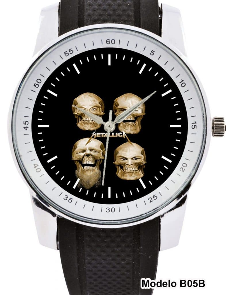 5c7368105d7 Relógio de Pulso The Classic Metallica Skulls - Web Rock N  Roll